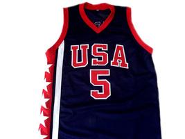 Jason Kidd #5 Team USA New Men Basketball Jersey Navy Blue Any Size image 1