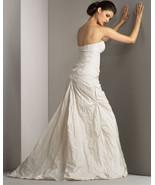 4 NICOLE MILLER Ivory Metal Taffeta Mia Sweetheart Strapless Wedding Gow... - $494.99