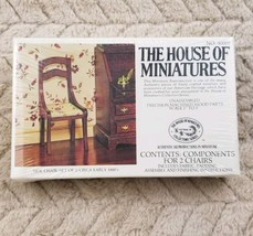 THE HOUSE OF MINIATURES 2 SIDE CHAIRS #40007 NIB - SEALED circa early 18... - $9.99