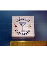 Rubber Stamps - cheers! Celebrate (New) - $6.25