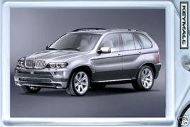 KEY CHAIN RING SILVER GRAY BMW X5 KEYTAG SCHLÜSSELANHÄNGER PORTE CLE POR... - $9.95