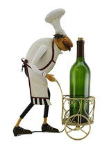 """Grumpy Chef 32"""" w/ Two Silver Pails Kitchen Display Stand Character - $37.18"""
