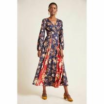 New Anthropologie Farm Rio Gracia Wrap Maxi Dress $220  XS Navy  - $126.72