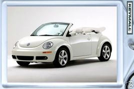 KEY CHAIN RING WHITE VW NEW BEETLE CONVERTIBLE CABRIOLET KEYTAG LLAVERO ... - $9.95