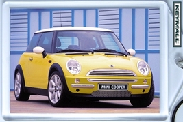 KEY CHAIN RING YELLOW AND WHITE NEW MINI COOPER... - $9.95