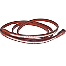New Rawhide Braided 8 Foot Long Roping Gaming Closed Bridle Leather Barr... - $69.99