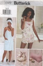 Butterick 3349. Misses Towel Wrap, Slippers, Head Wrap, Pillow, Camisole, Shorts - $14.70