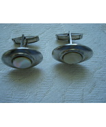 Vintage Cuff Links ~ MOP ~ Silver-tone - $7.00