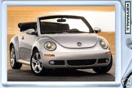 KEY CHAIN SILVER/GREY VW NEW BEETLE CONVERTIBLE KEYTAG SCHLÜSSELANHÄNGER БР - $9.95