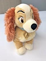 "Lady Tramp Plush Cocker Spaniel Puppy Dog Bean 12"" Stuffed Animal Disney Store image 2"