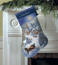 """Dimensions Gold Collection Counted Cross Stitch Kit 16"""" Long-Sleigh Ride  - $28.98"""