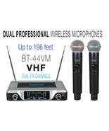 Boytone BT-44VM Dual Digital Channel Wireless Microphone System - VHF Fi... - $124.71