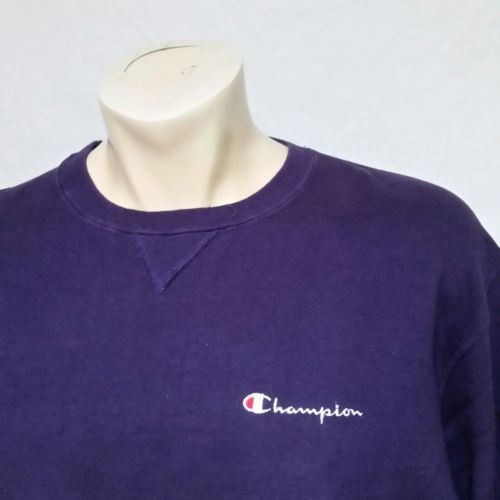 VTG Champion Sweatshirt Embroidered Spell Out Jumper USA Sport 90s Crew Neck XL image 2