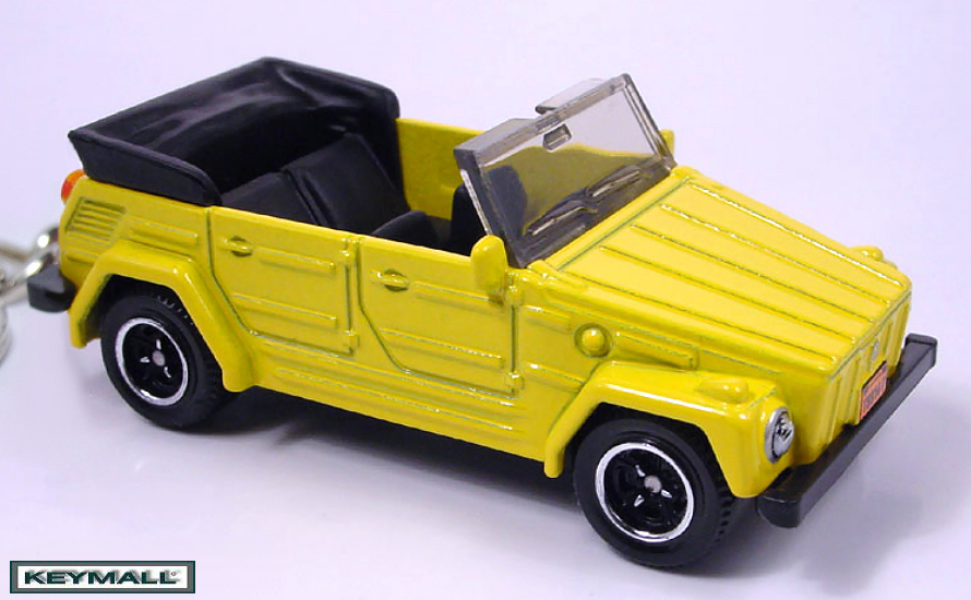 Primary image for KEY CHAIN YELLOW VW THING TYPE 181/182 VOLKSWAGEN CONVERTIBLE TREKKER PORTE CLE