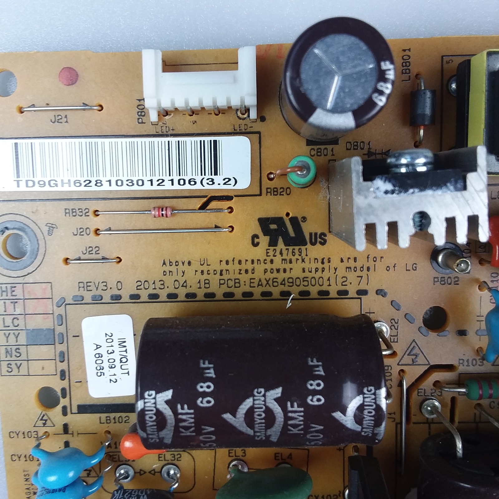 LG 32LN575V EAX64905001 (2.4) (2.7) Power Supply Board