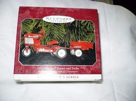 Hallmark Keepsake Ornament 1955 Murray Tractor & Trailer 2 Ornaments Cas... - $12.86