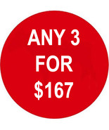 WED- THURS PICK ANY 3 FOR $167 RED DEAL BEST OF... - $0.00