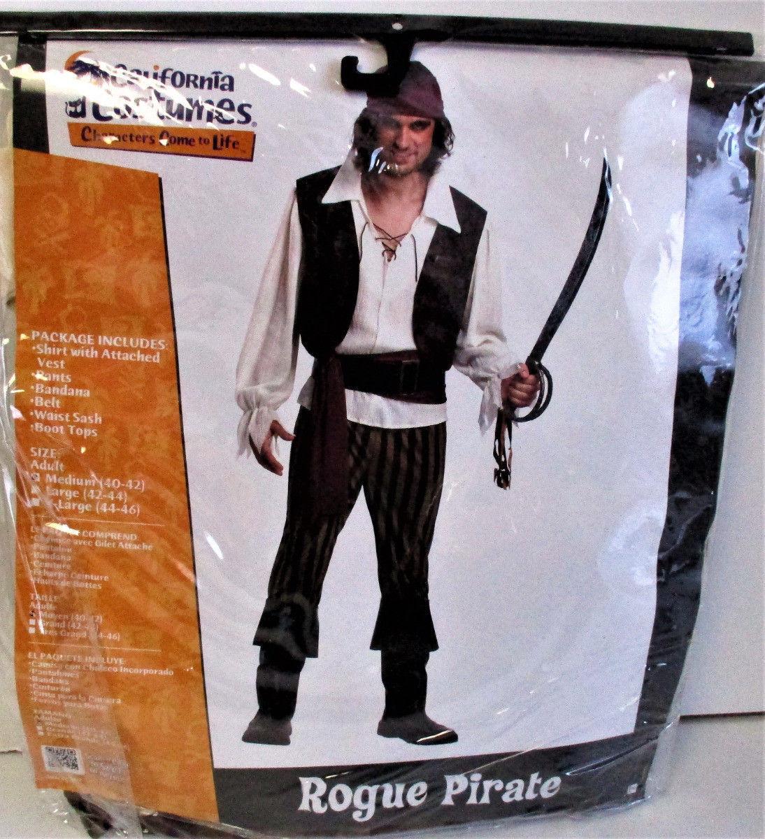 California Costumes Adult Rogue Pirate Costume Size: Medium (40-42)