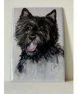 Cairn Terrier Dog Art Magnet Solomon - $6.00