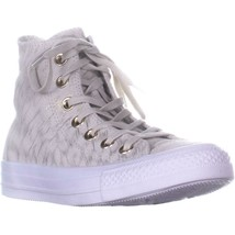 Converse Chuck Taylor All Star Hi Lace Up Sneakers, Buff/Buff/White, 5 U... - $36.47