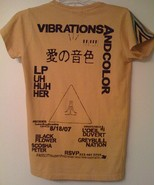 """FREE CITY """"VIBRATIONS AND COLOR"""" limited ed. UH HUH HER T-shirt NWT oran... - $140.00"""