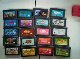 Lot of 20 kids games cartridge GBA GAME BOY ADVANCE Tested Authentic Nin... - $64.35