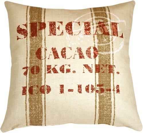 Pillow Decor - Cacao Bean Red Print Throw Pillow