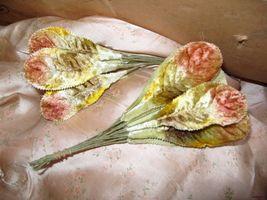 Vintage Rust Velvet Fabric Millinery Flower Sup... - $11.55