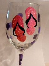 Summer Flip Flop Wine Goblet Glassware Goblets ... - $10.00