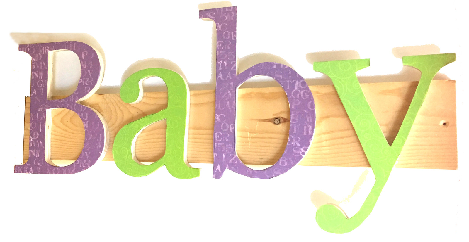 Terra Bambino Green & Purple Baby Wall Decor and 50 similar items