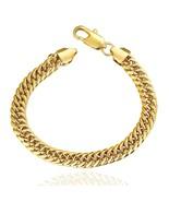 10K Yellow Gold PLated Miami Cuban Bracelet - $14.69