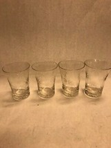 Vintage glass juice glass 3 pieces cut star barware 4 in clear crystal d... - $31.67