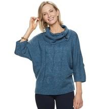 Women's Dana Buchman Cable-Knit Cowlneck Sweater - Navy Blue - X-Large XL - $54.95