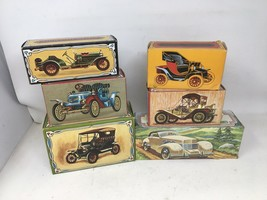 Lot of 6 AVON Vintage Cars Cologne Bottles with Boxes All But 1 Are Full Packard - $47.49