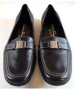 Salvatore Ferragamo Boutique Black Leather Flats Womens 6B Made in Italy... - $124.95