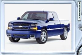 KEYTAG 2003/2004/2005 BLUE CHEVY SILVERADO 1500 SS KEY CHAIN PORTE CLE L... - $9.95