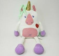 "12"" 2019 Animal Adventure Knitted White Pink Unicorn Stuffed Animal Plush Toy - $36.47"