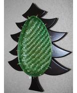 "Pier 1 Christmas Tree Shape Holiday Serving Basket Green Serving 16"" Woo... - $13.32"