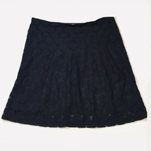 Black Lace Skirt A-Line Side Zip Women's Size 10 Large - $19.79