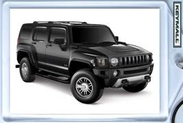 Keytag 2006/2007/2008/2009/2010 Black Hummer H3 New Key Chain Porte Cle Llavero - $9.95