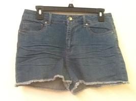 Forever 21 Womens 30 Blue 2.1 Denim Cotton Blend Cutoff Jean Festival Shorts NWT - $10.95