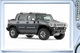 Keytag 2006/2007/2008/2009 Blue Grey/Gray Hummer H2 Key Chain Porte Cle Llavero - $9.95