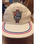 HAT Heileman's Old Style Beer vintage meshback trucker cap snapback white  - $9.99