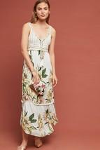 Nwt Anthropologie Protea Brynne Crochet Floral Maxi Dress By Farm Rio S - $93.49