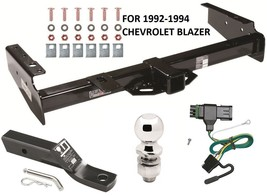 1992-1994 CHEVROLET BLAZER COMPLETE TRAILER HITCH PACKAGE W/ WIRING KIT ... - $276.20