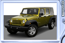 Keytag 2008/2009/2010/2011/2012 Green Jeep Wrangler Unlimited X Key Chain БРЕ - $9.95