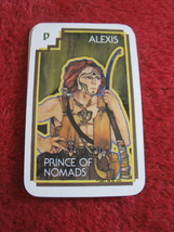 1981 DragonMaster Board game playing card: Alexis, Prince of Nomads - $1.00