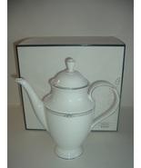 Lenox Pearl Platinum Coffee Pot with Box - $155.99