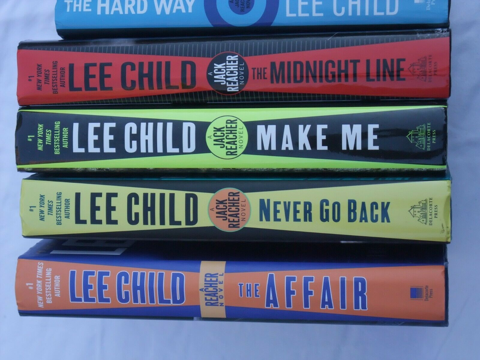 Primary image for LEE CHILD  Reacher 5 HC Affair, Never Go Back,Midnight Line, Hard Way, Make Me