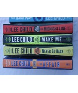 LEE CHILD  Reacher 5 HC Affair, Never Go Back,Midnight Line, Hard Way, M... - $14.40